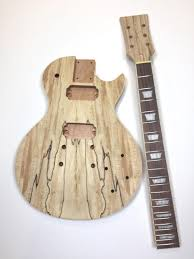 diy les paul spalted maple unfinished electric guitar kit reverb