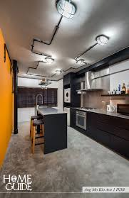 Interior Design Ideas 1 Room Kitchen Flat Industrial Kitchen Interior Design At Ang Mo Kio Ave 1 Hdb