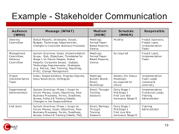 stakeholder communication