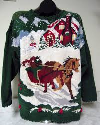 tis the season for the 25 ugliest equestrian christmas sweaters