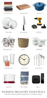 wedding registry ideas wedding registry essentials what we would register for today 8