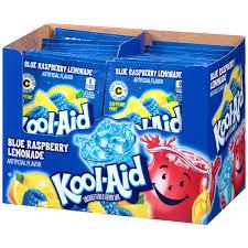 kool aid blue raspberry lemonade unsweetened drink mix 0 22 oz