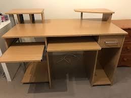 Small Corner Desk Homebase Homebase Light Oak Effect Computer Pc Desk For Sale In