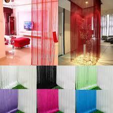 Diy Room Divider Curtain String Door Curtain Fly Screen Divider Room Window Decor Diy Blind