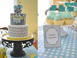 elephant decorations for baby shower chevron and polka dot baby shower thebakeboutique
