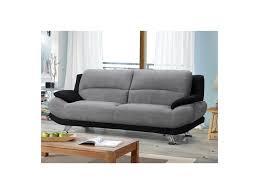 couch schwarz grau sofa 3 sitzer microfaser musko grau schwarz