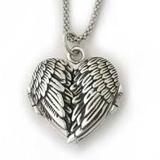 locket necklace with photo images Angel wings locket jpg