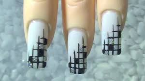 nail art 40 formidable black and silver nail art images ideas
