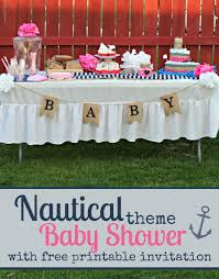 Nautical Theme Babyshower - ahoy a nautical themed baby shower with free printable invitation