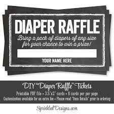 printable diaper raffle tickets chalkboard baby shower game