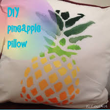 diy pineapple pillow inspired youtube
