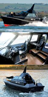 lexus v8 in boat safehaven barracuda sv11 stealth boat is f117 inspired covered in