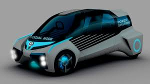 hydrogen fuel cell car toyota toyota fuel cell plus concept comes from a future hydrogen based