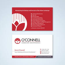 Business Cards For Tree Service Business Card For O U0027connell Landscape Maintenance Business Card