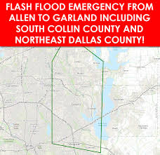 Dallas Radar Map by Flash Flood Emergency For Northeast Dallas South Collin Counties