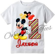 mickey mouse 1st birthday shirt personalized mickey mouse shirt ebay