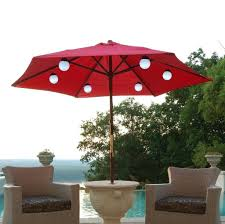 patio umbrella with solar led lights sure fire outdoor umbrella with solar lights lighting cool red patio