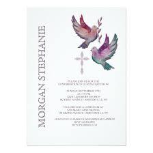 religious invitations watercolor doves religious invitation invitations 4 u