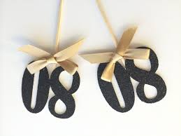 80th birthday party ideas 6 black glitter number cupcake topper with gold bow 80th