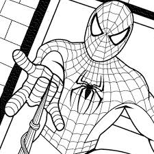 printable coloring pages spiderman spiderman drawing pages at getdrawings com free for personal use