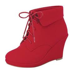 Top Moda Women U0027s 3 Inch Heel Red Boots Wedges Pinterest Moda