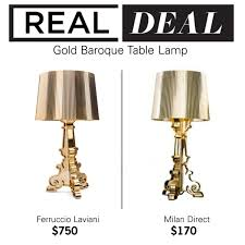 Kartell Bourgie Table Lamp Real Deal Gold Baroque Table Lamp Polyvore