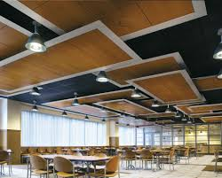 forman offers flexible design with timber coated metal ceilings