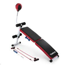 tomshoo adjustable folding decline ab bench foldable sit up sales