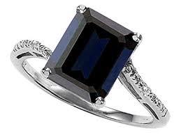 black sapphire engagement rings tommaso design emerald cut 10x8 genuine black sapphire engagement