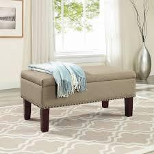 Storage Bench Bedroom Furniture Better Homes And Gardens Grayson Ottoman Storage Bench Walmart Com