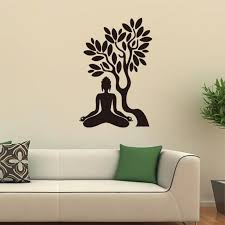 57x38cm buddha the bodhi tree vinyl wall stickers removable