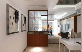 living room with glass wall office partitions partition between