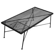 Wrought Iron Patio Coffee Table Wrought Iron And Mesh Low Outdoor Patio Coffee Table By Russell