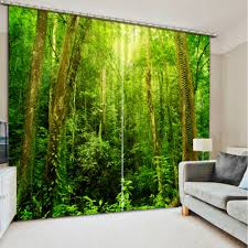 Living Room Curtains Modern Online Get Cheap 3d Curtains Forest Aliexpress Com Alibaba Group