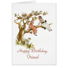 vintage birthday for friends greeting cards zazzle co uk
