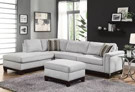 Grey Leather Tufted Sofa by Living Room Contemporary Black Leather Sectional Sofa Left Side