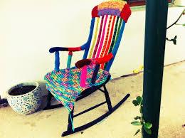 Rocking Chairs Adelaide Rocking Chair Yarn Bombing