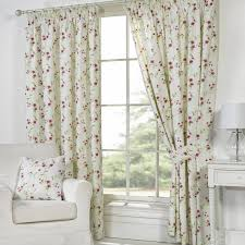 White Patterned Curtains Curtain Country Style Floral Bedroom Lace Top Great Log Home