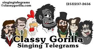 cheap singing telegrams gorilla the best singing telegrams in the puget sound