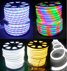 copper line led neon rope light ip65 outdoor dmx controlled rope