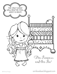 coloring page princess and the pea murderthestout