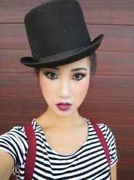 how to do mime makeup love the top hat too halloween costume