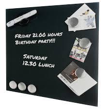 tableau magn騁ique cuisine tableau mémo magnétique en verre 35 x 35 cm noir maison futée