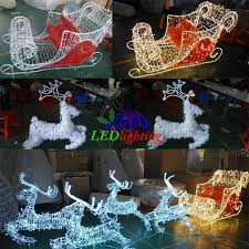 Rattan Reindeer Christmas Decorations by Waterproof Holiday Decoration Carriage Horse Led Acrylic Outdoor