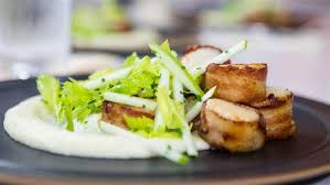 Celery Root Vegetable - al roker u0027s bacon wrapped scallops with root vegetable purée
