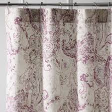 Paisley Shower Curtain Tranquil Paisley Lilac Shower Curtain Pier 1 Imports