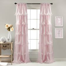 Gingham Curtains Pink by Lush Decor Nerina Ruffled Curtain Panel Aqua Blue Size 54 X 84