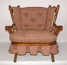 vintage tell city andover rock maple rocking settee loveseat