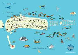 St Lucia Island Map Kuda Huraa Island Map Kuoni Travel