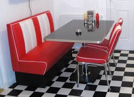Kitchen Booth Table Sets by Retro Furniture 50s American Diner Kitchen Half Booth Set Red